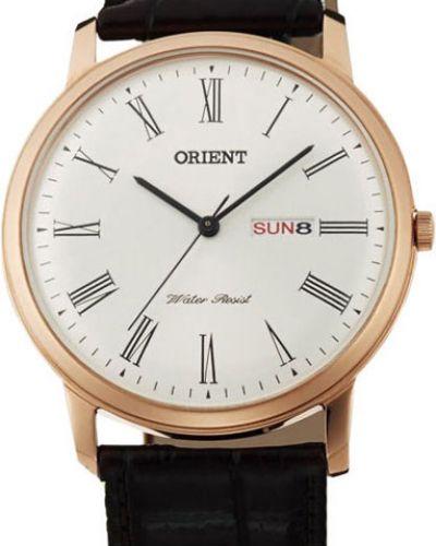 Часы водонепроницаемые с кожаным ремешком классические Orient