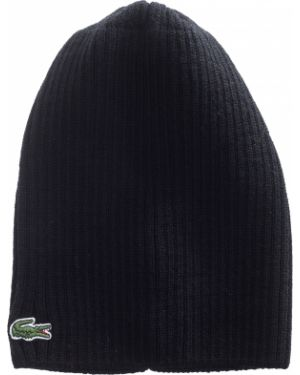 Вязаная шапка - черная Lacoste