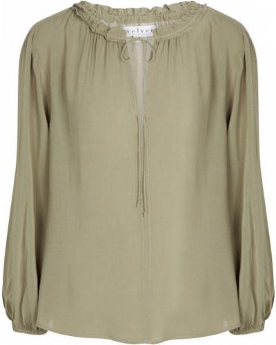 Зеленая бархатная блузка Velvet