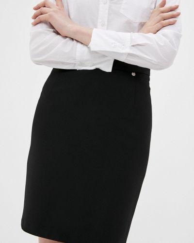 Прямая черная юбка карандаш Blauz