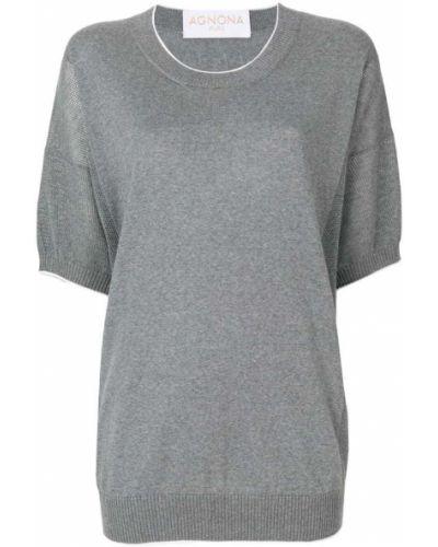 Серый шерстяной свитер Agnona