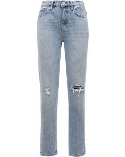 Prosto niebieski jeansy z kieszeniami Re/done