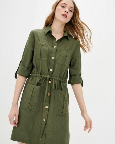 Зеленое платье-рубашка German Volf