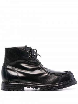 Черные кожаные ботинки Officine Creative