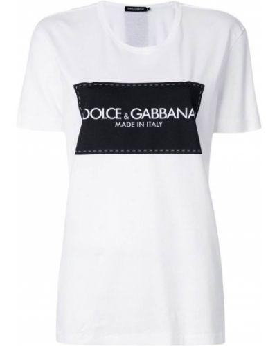 Футболка с логотипом прямая Dolce & Gabbana