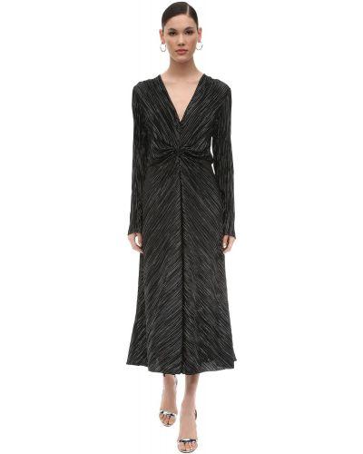 Платье миди с V-образным вырезом с люрексом Rotate