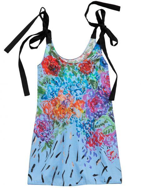 Sukienka mini bawełniana - niebieska Christopher Kane