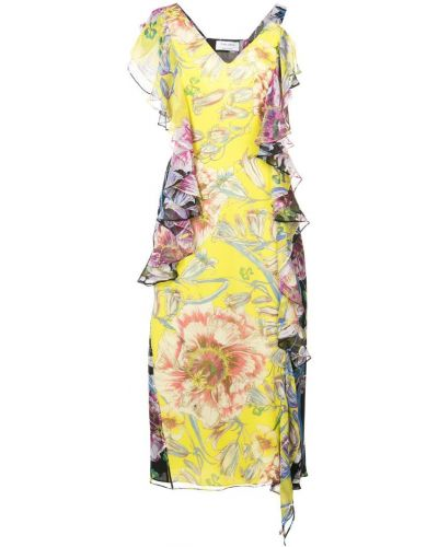 Шелковое платье - желтое Prabal Gurung