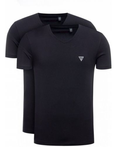 Czarna koszula jeansowa bawełniana Guess