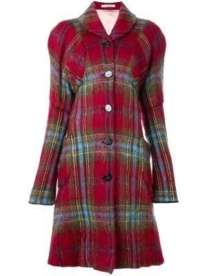 Пальто из мохера золотое винтажное с капюшоном Vivienne Westwood Pre-owned