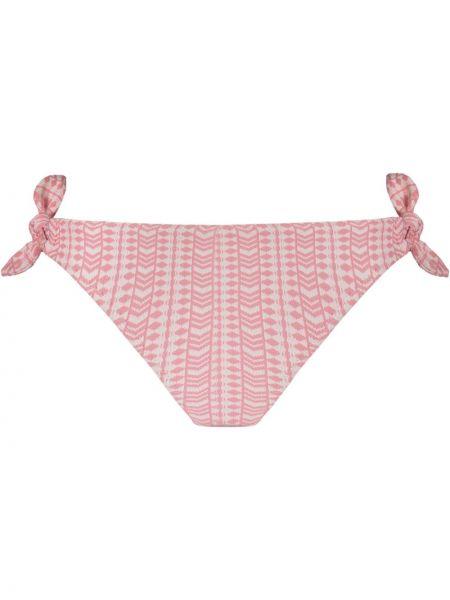 Розовые бикини эластичные с завязками Lemlem