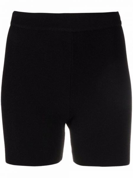 Черные шорты из вискозы Jacquemus