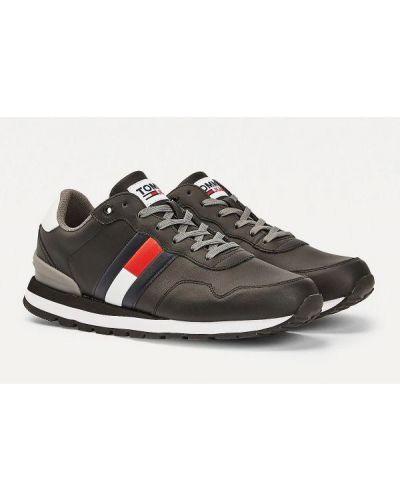 Buty sportowe skorzane - czarne Tommy Hilfiger