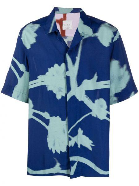 Koszula krótkie z krótkim rękawem z wiskozy prosto Paul Smith
