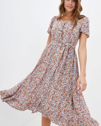 Розовое платье а-силуэта Hey Look