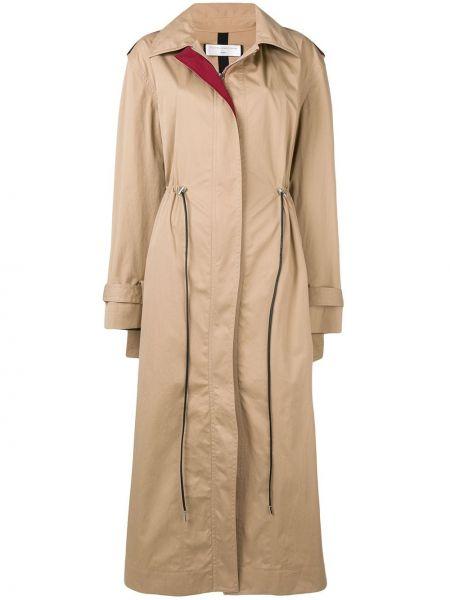 Długi płaszcz z kołnierzem włosy wielbłąda Victoria Beckham