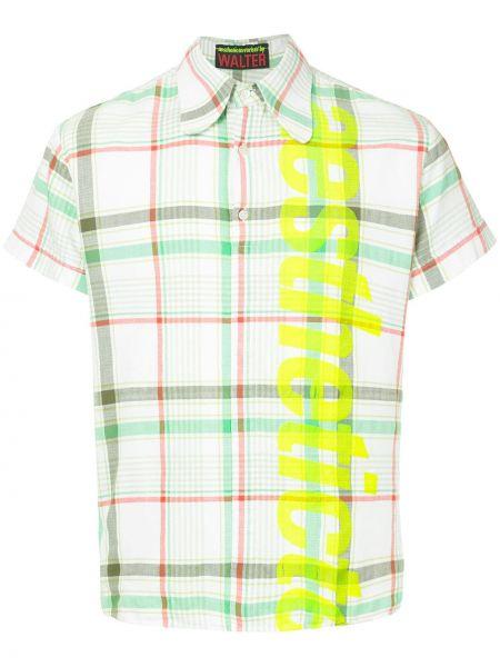 Акриловая рубашка с короткими рукавами винтажная на пуговицах Walter Van Beirendonck Pre-owned