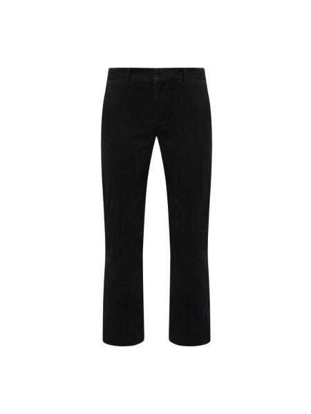 Spodnie z aksamitu - czarne 7 For All Mankind