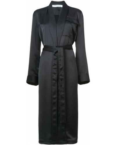 Длинное пальто с поясом пальто-халат Off-white