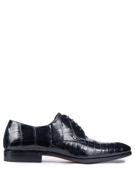 Туфли на шнуровке из кожи крокодила Zilli
