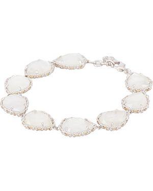 Biała bransoletka perły srebrna Kendra Scott