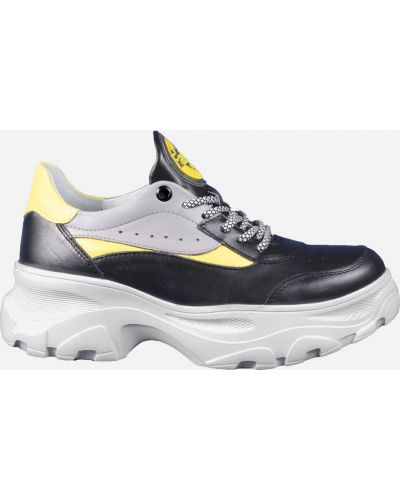 Кожаные кроссовки - черные Irbis