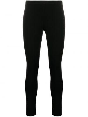 Czarny legginsy rozciągać z wiskozy Helmut Lang
