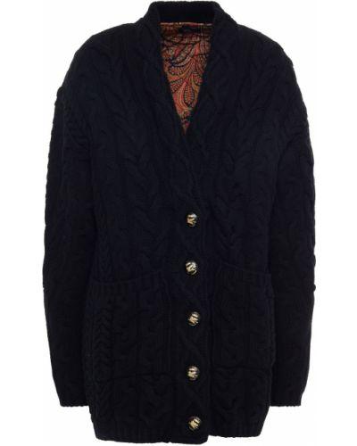 Czarna włoska kurtka pikowana Etro