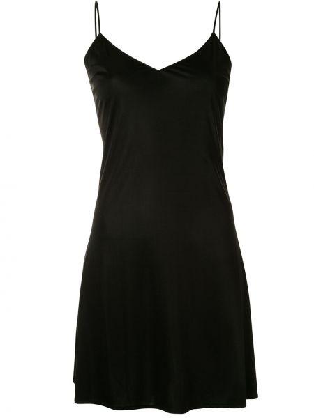 Czarna sukienka mini z dekoltem w serek materiałowa Junya Watanabe