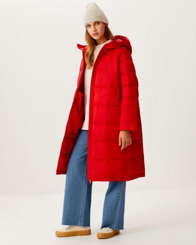 Стеганое пальто - красное Sela
