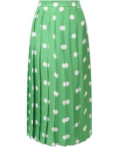 Шелковая юбка - зеленая Alexander Terekhov