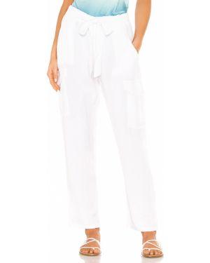 Białe spodnie peep toe Yfb Clothing