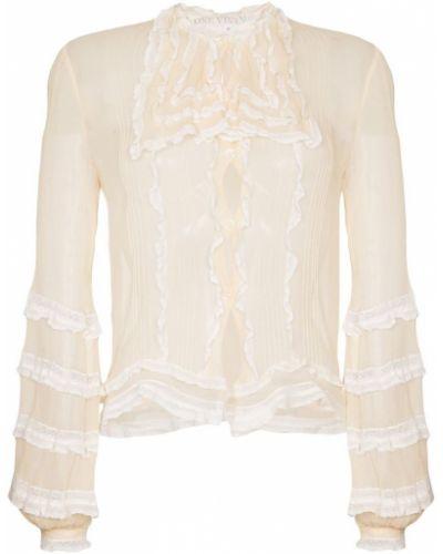 Блузка с оборками прозрачная винтажная One Vintage