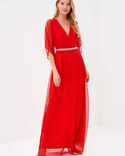Платье весеннее красный Bruebeck