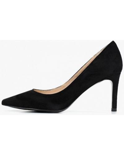 Туфли на каблуке черные замшевые Paolo Conte