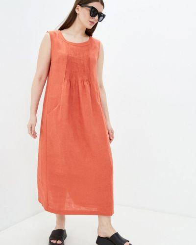 Оранжевое повседневное платье Electrastyle