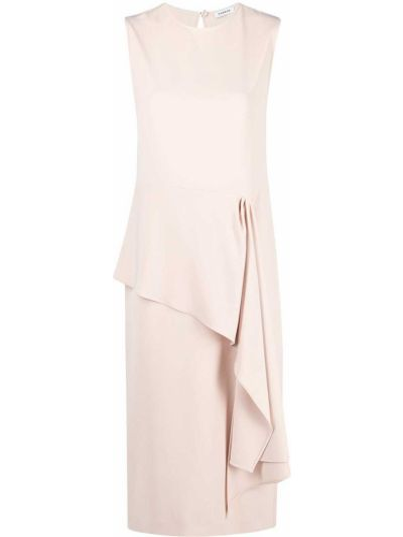 Асимметричное розовое платье миди без рукавов P.a.r.o.s.h.
