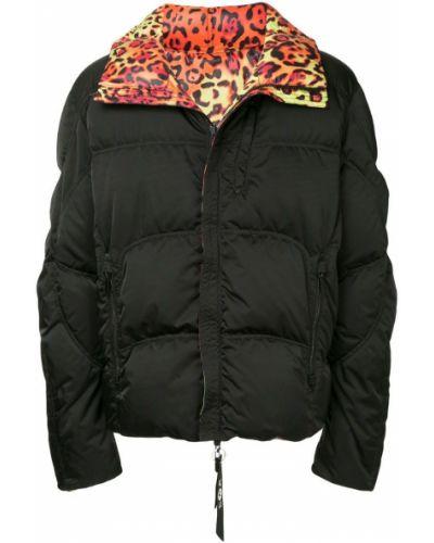 Черная куртка с капюшоном на молнии Kru