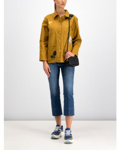 Żółta kurtka jeansowa Tory Burch