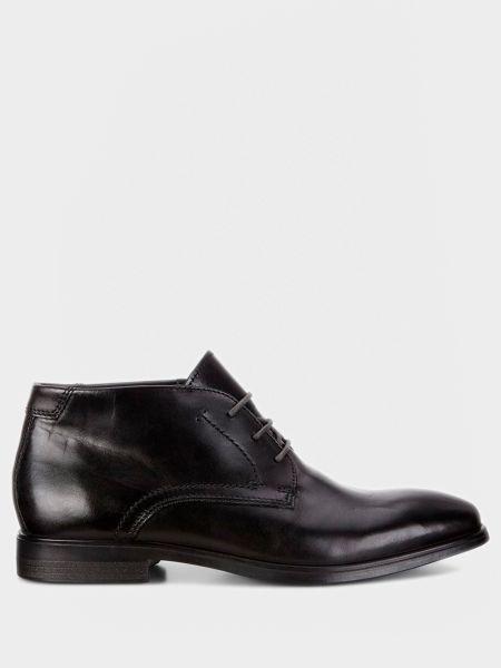 Кожаные ботинки - черные Ecco