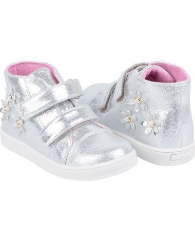 Ботинки на липучках серебряный Kidix