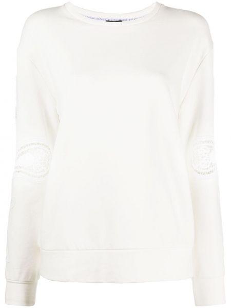 Biały sweter koronkowy bawełniany Escada