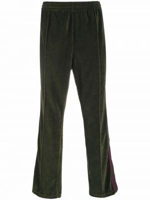 Zielone spodnie bawełniane Needles