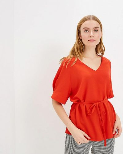 Блузка с коротким рукавом красная Grafinia