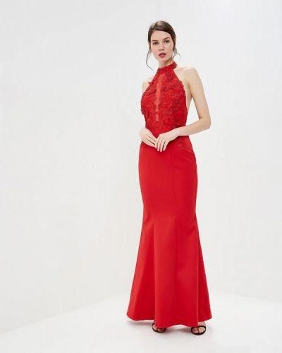 Вечернее платье весеннее красный Goddiva