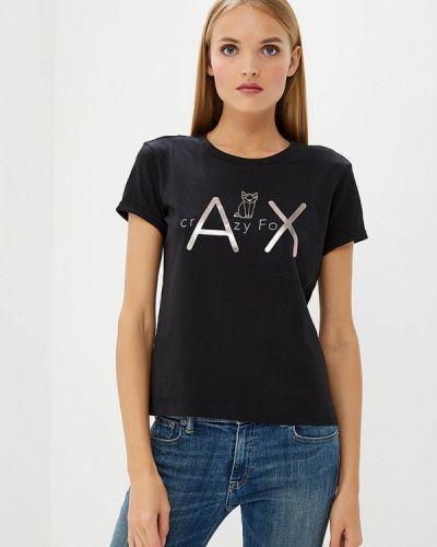 Черная футболка Armani Exchange