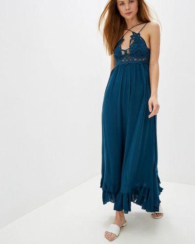 Платье бирюзовый платье-сарафан Free People