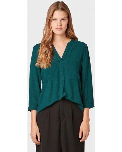 Блузка с длинным рукавом зеленый Tom Tailor Denim