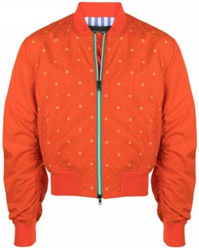 Оранжевый бомбер на молнии с воротником Viktor & Rolf