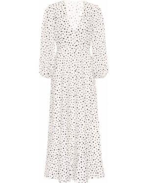 Вечернее платье из штапеля с принтом Rixo